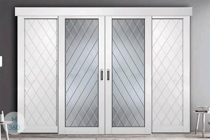 Дверь купе для встроенного шкафа на заказ Арт 2