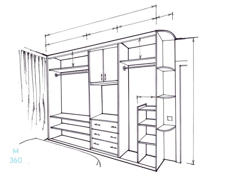Встроенный шкаф в прихожую на заказ Арт 5