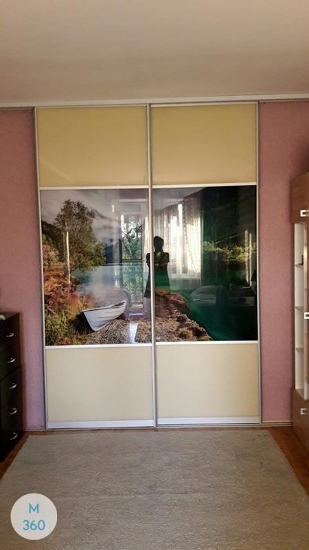 Шкаф-купе стеклянные двери Серджио Арт 009190770